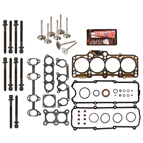 Evergreen HSHBIEV9020 Head Gasket Set Head Bolts Intake Exhaust Valves Fits 98-06 Volkswagen Beetle Golf Jetta 2.0L SOHC 8V BEV AVH AZG AEG
