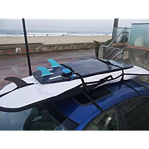 Surfboard Car Roof Rack Padded System (Holds Up To 3 Boards) with Silicone Buckle Covers