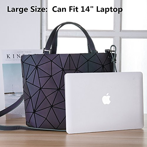 unique Luminous Bag purses Leather Lattice HotOne Shard Design Luminous PU Large Handbags and Geometric qI7CqHx0w