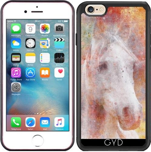 Coque Silicone pour Iphone 6/6S - Romantique Cheval Illustration by Andrea Haase