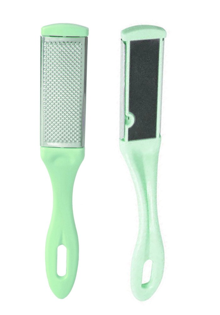 Foot File Pedicure RASP Double-Sided Callus Remover Sided Iron Sand Green by Bulase