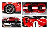 ford gt 1 18 - 2017 Ford GT #1 Red Heritage Special Edition 1/18 Diecast Model Car by Maisto 31384