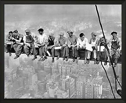 Nueva York. Almuerzo sobre un rascacielos. Fotografía tomada en 1932 ...