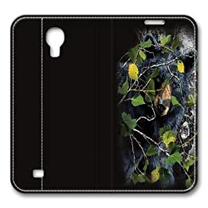Children's Find 8 Black Bears Smart Case Cover with Back Case for Samsung Galaxy S4/I9500