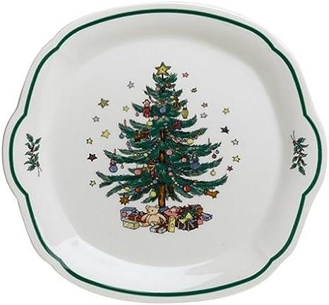 Amazon Com Nikko Ceramics Christmas Giftware Serving Tray Nikko Ceramics Happy Holidays Platters