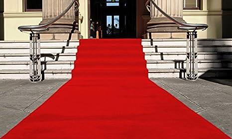 Rot Eventteppich VIP Carpet L/äufer Teppich Empfangsteppich in Breite 1 m und L/änge 5 m