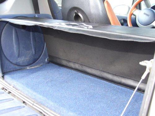 Bandeja de cuero sint/ético para maletero y varillas de soporte para coche Smart ForTwo color negro Desconocido ONEKOOL