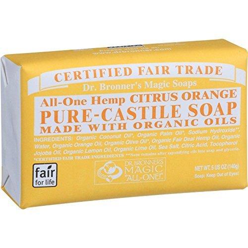 Bar Soap, Organic, Citrus, 5 oz (Multi-Pack)