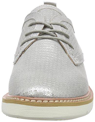 XTI 45861 - Zapatos de cordones derby Mujer Plateado - Silber (Plata)