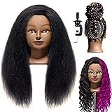 """LuAiJa Mannequin Head 20""""-22"""" Real Hair Manikin"""