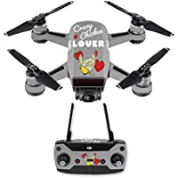 Skin for DJI Spark Mini Drone Combo - Crazy Chicken Lover| MightySkins Protective, Durable, and Unique Vinyl Decal wrap cover | Easy To Apply, Remove, and Change Styles | Made in the USA