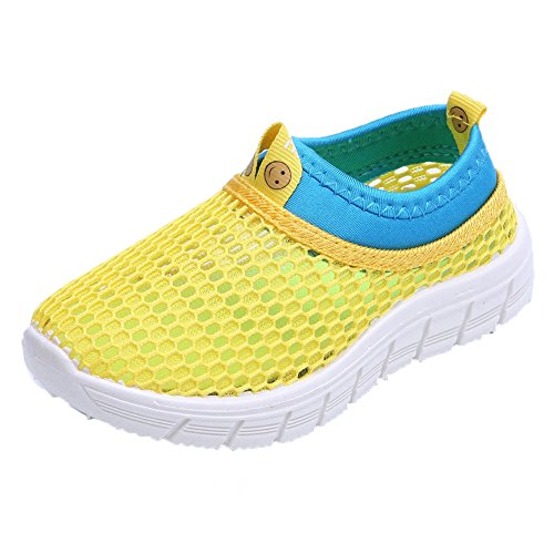 CIOR Kids Breathable Water Shoes Slip-on Sneakers For Running, Pool, Beach, Toddler/Little Kid/Big Kid,sk205yellow,26 1