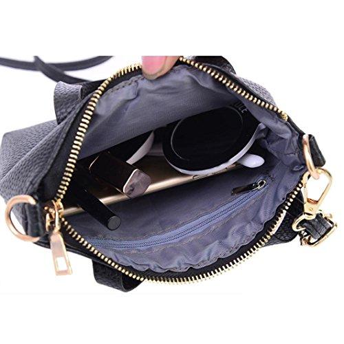 de bandoulière 3 Solide 5cm Internet PU Femmes main Sac 15cm cuir à 20cm sac Noir à vXwqwx4p