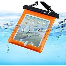 Almatess Universal Waterproof Tablet Case with Lanyard Protective Multi Function Marine for iPad Mini / iPad Mni Retina / iPad / iPad Air / Kindle / Kindle Paperwhite / Kindle Fire (Orange)
