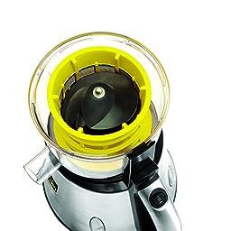 BELLA 13695 NutriPro Cold Press Juicer, Stainless Steel