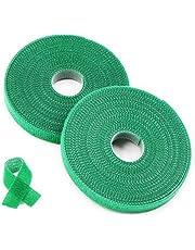 Plantenbinder klittenband groen/plantenhouder/softbinder/boom fixeerband,25 m plantenbinder van weerbestendig & verrottingsbestendig polyester breedte: 20 mm