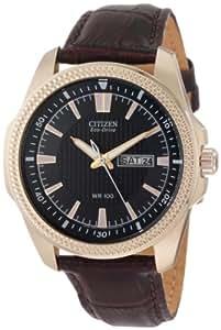 Citizen BM8493-08E - Reloj para hombres, correa de acero inoxidable color marrón