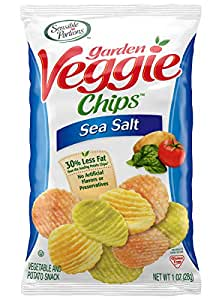 Sensible Portions Garden Veggie Chips Sea Salt 1 Oz Bag Pack Of 24 Grocery