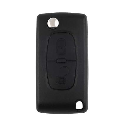 Carcasa de Cuchilla sin Cortar Carcasa de Repuesto Clave de protección Carcasa Flip Llave remota para Peugeot 207 307 407 308