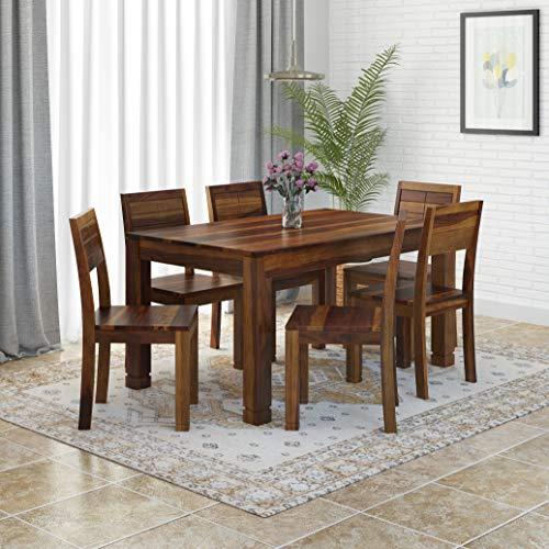 Induscraft Sheesham Wood Thunderbirg 6 Seater Dining Set