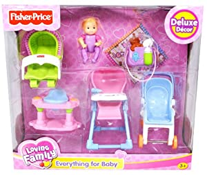 fisher price loving family dollhouse deluxe decor furniture accessory set. Black Bedroom Furniture Sets. Home Design Ideas
