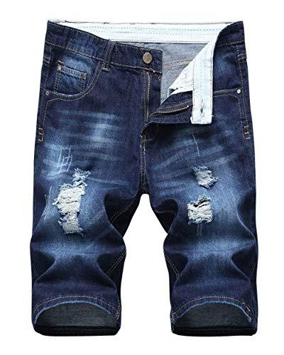 Da Di Hole Dunkelblau Ragazzi Corti Classiche Summer Retro Slim Fit Nge Pantaloncini Casual Fashion Uomo Stile Jeans Rt 118qAdZx