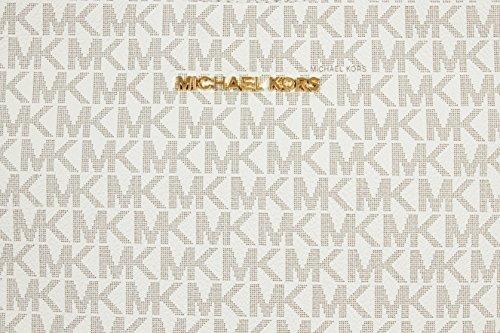 Michael Kors Jet Set Travel Large Logo Messenger - Vanilla
