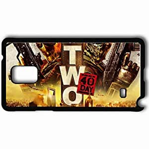 Personalized Samsung Note 4 Cell phone Case/Cover Skin Army Of Two Black