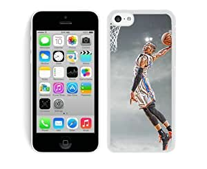 New Custom Design Cover Case For iPhone 5C Generation Oklahoma City Thunder Russell Westbrook 6 White Phone Case