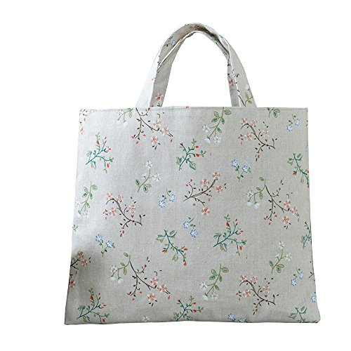 Caixia Women's Charming Floral Branch Canvas Tote Shopping Bag Beige (No closure) by caixia (Image #3)