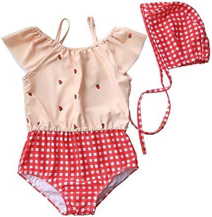 cocosuner(ココスナー) ベビー水着 子供 水着 女の子 キッズ 女児 帽子付き 子供用 こども 女子 みずぎ かわいい 赤ちゃん プール 海 夏休み 70 80 90 100 110 120cm