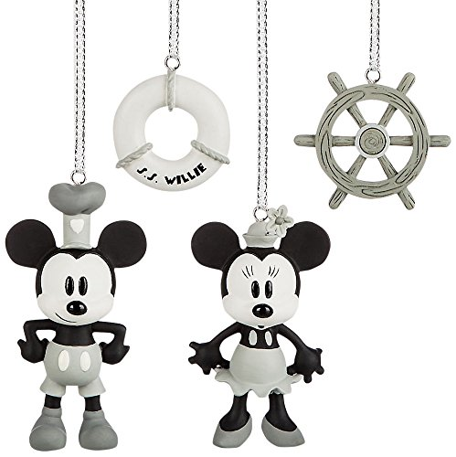 Music Mickey Mouse Box - Disney Steamboat Willie Mini Ornaments Box Set