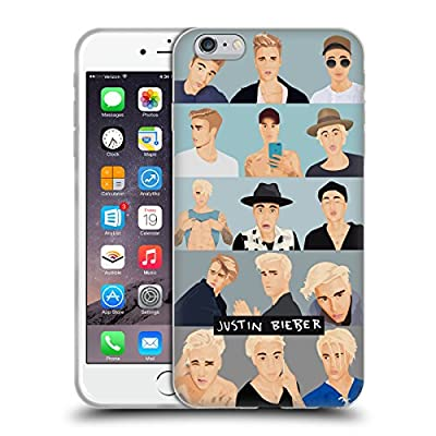 Official Justin Bieber Faces Justmojis Soft Gel Case for Apple iPhone 6 Plus / 6s Plus