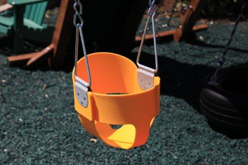 Swing Kingdom Yellow Rubber Infant Swing by Swing Kingdom