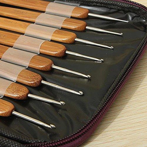 Woody Stitchery Bait - 20pcs Bamboo Sewing Crochet Hook Weave Knitting Needle - Sweetener Mitt Knock Mauler Come-On Shot Stitching Lure by Unknown (Image #6)