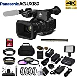 Panasonic AG-UX90 4K/HD Professional Camcorder (AG-UX90PJ) Advanced Bundle