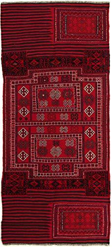 RugInRoll Turkish Hand-Knotted Camel Bag Pattern, Camel Bag Design, Wool on Wool, Antique, Handmade Area Rug, (3' 6