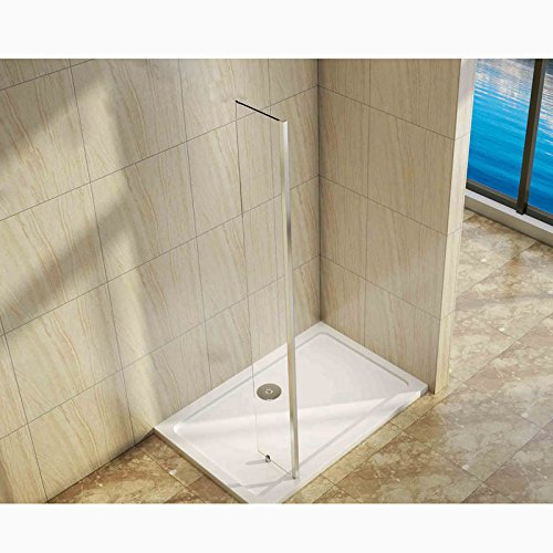 250x2000mm Wet Room Screen Shower Enclosure 8mm Easyclean Glass End Panel Perfect