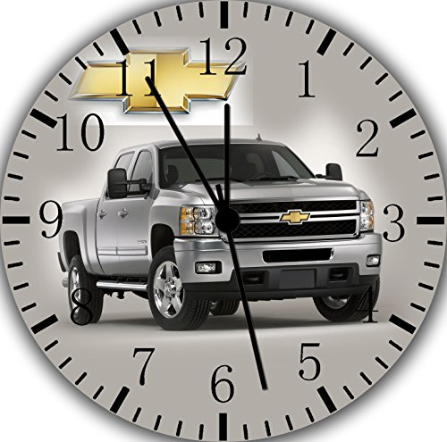 Chevy Silverado Truck Frameless Borderless Wall Clock Z12 Nice for Gift or Room Wall Decor