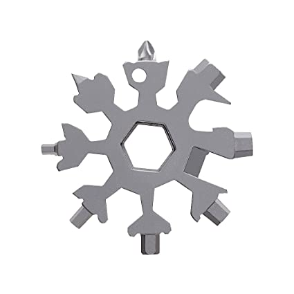 Amenitee 18-in-1 Snow Multi-Tool – Easy N Genius - FEX 18-in-1 Stainless  Steel Snowflakes Multi-Tool (Standard, Stainless Steel)