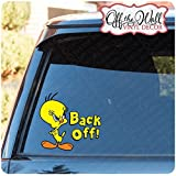 "Tweety Bird ""Back Off!"" Vinyl Decal Sticker for Cars / Trucks FULL COLOR"