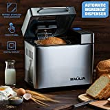 Baulia Automatic Bread Maker Machine - 17 Programmable Bread Types Settings – Stainless Steel – Perfect Bake Technology – Wake Up to a Freshly Baked Loaf of Bread – 710-Watts