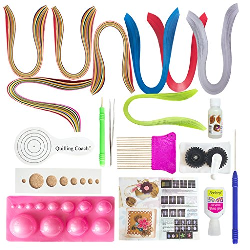 VIPRA-19-Piece-Quilling-Tools-Kit-with-800-papers