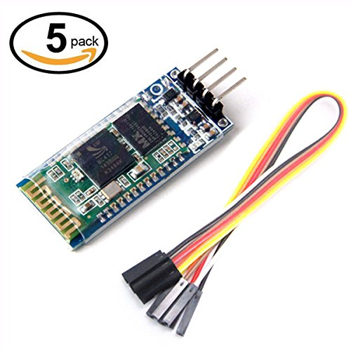 WINGONEER® 5Pcs HC-06 Wireless 4 Pins Bluetooth RF Transceiver Serial Modul+ 4 set cable for Arduino by WINGONEER®