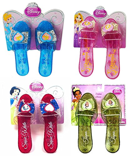 Disney Princess Shoe Set - Cinderella, Rapunzel, Snow White, Tiana