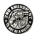 2nd Amendment Pin - Hand Carved Pewter Motorcycle Biker Vest Jacket Lapel Pin
