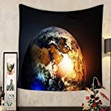 Keshia Dwete Custom tapestry asia europe and africa continents on earth globe elements of this image furnished by nasa