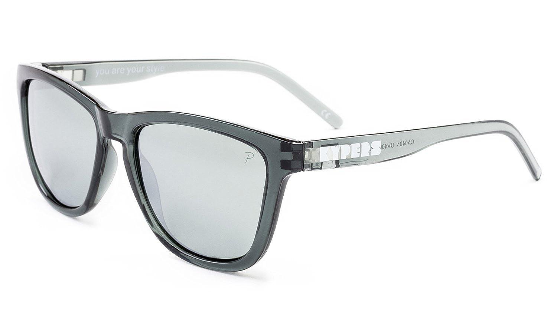 KYPERS Caipirinha Gafas de Sol, Clear Grey-Silver Mirror, 54 Unisex