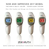 Digital Infrared Non-Contact Forehead Fever Thermometer with case by Zoe+Ruth FDA Approved