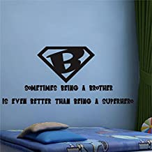 Being A Brother Is Better Than Being A Superhero Wall Sticker for Boys Room Decor Removable Vinyl Wall Decal for Kids Art DIY